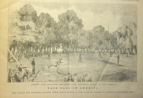 Spirit of times baseball scene detail