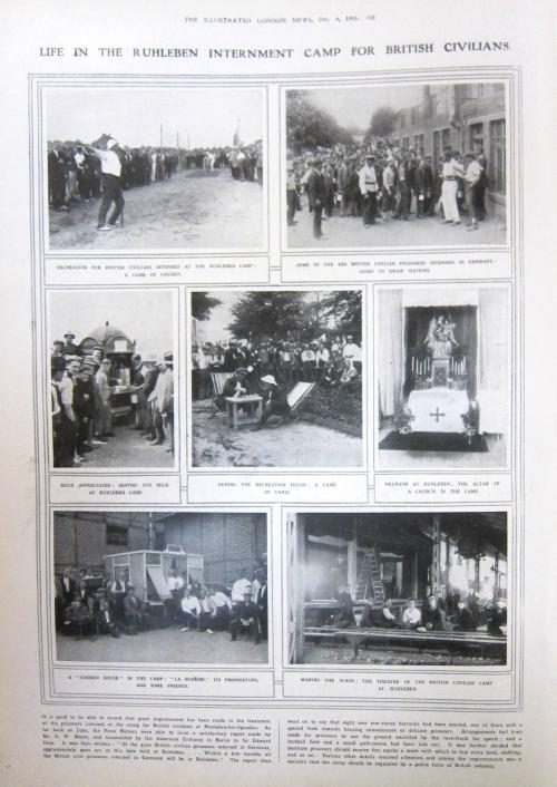 WWI POW civilians Ruhleben 1915