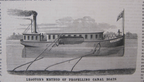 SciAm 1876 creeping canal boat
