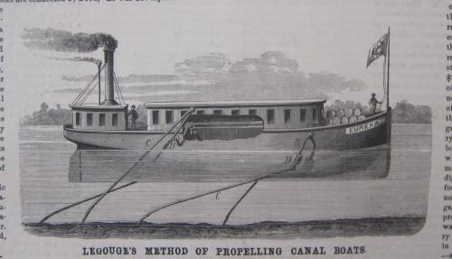 SciAm 1876 creeping canal boat