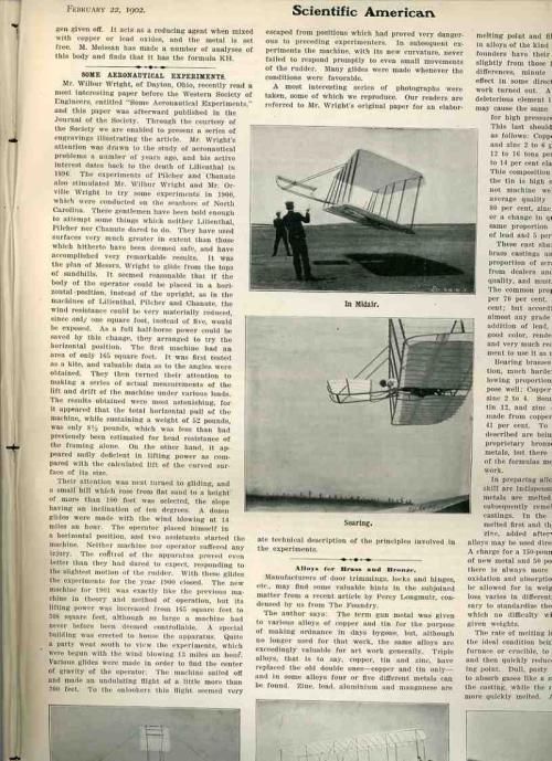 Wright bros 1902 Sci Am