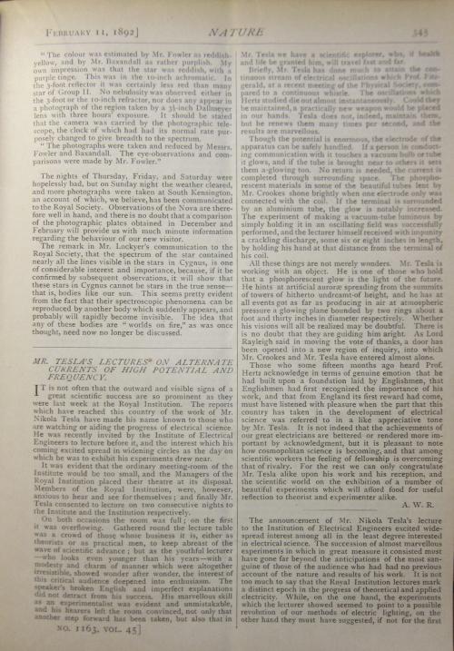 Tesla 1892 text