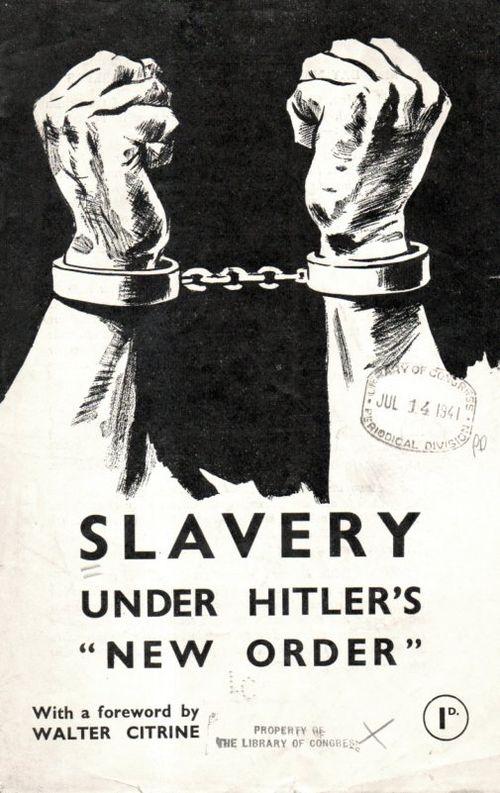 Poster--Slavery Hitler447