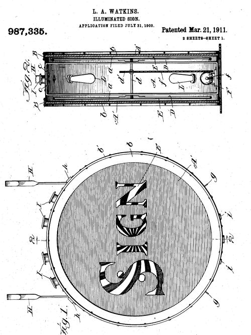 Dada found patent sign b