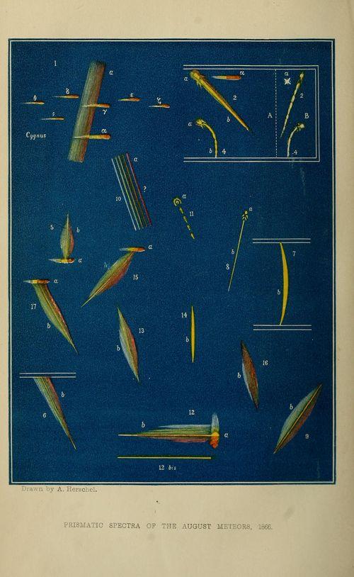 Meteor spectra 1866