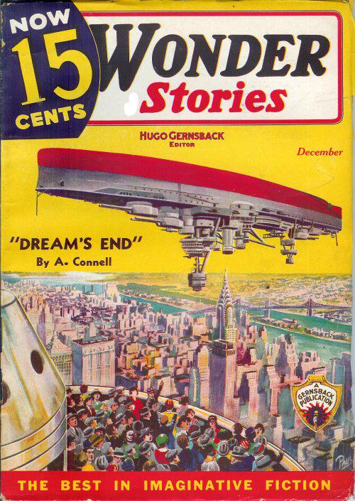 WOnder stories upside down floating ship
