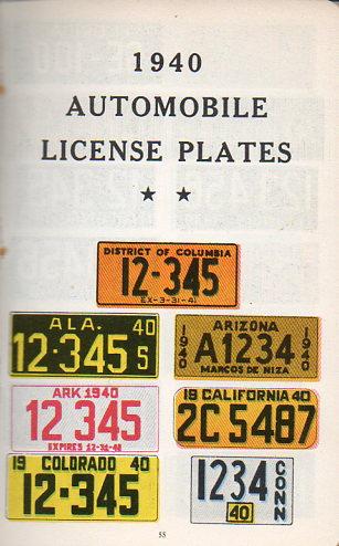 Auto  license plates160