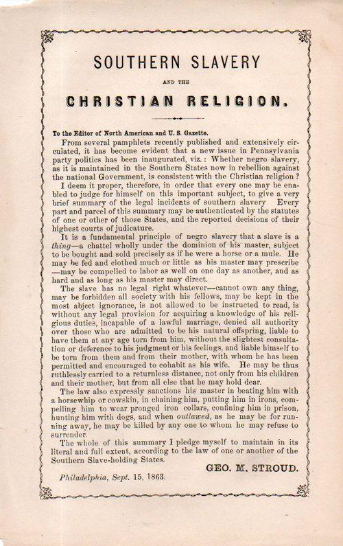 Slavery christian position178