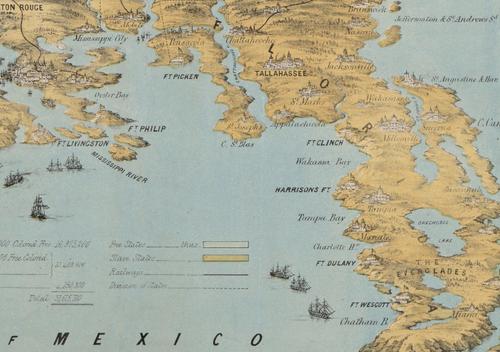 Maps--Civil War--Unusual persp  FL