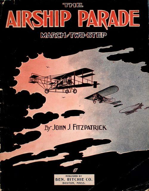 Aeroplane airship parade 1911