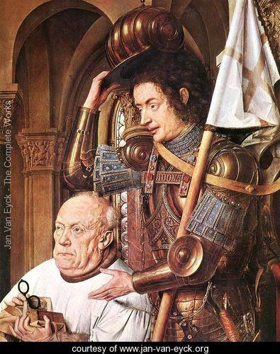 Van eyck virgin of the canon detail