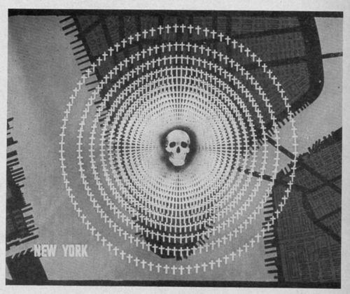 Atomic bomb cities NY skull