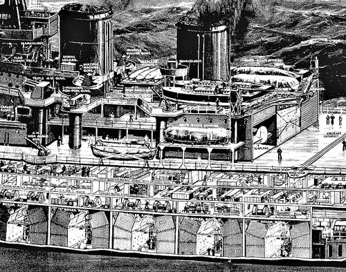 Cross section Repulse 1939 detail