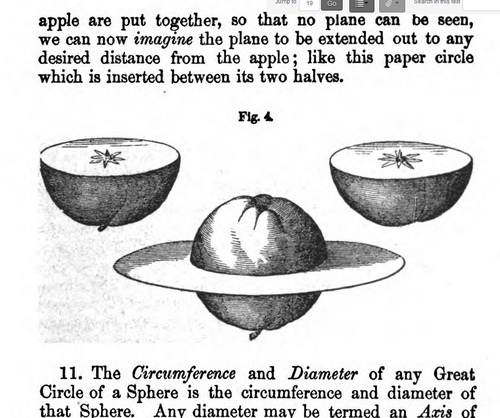 Apple astronomy halves