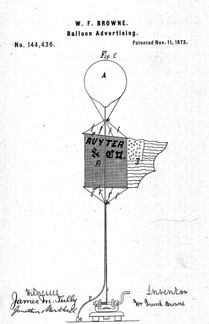 Patent balloon 1873