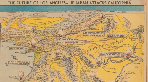 Maps Japan attacks LA detail a