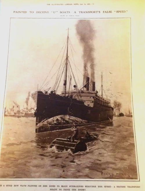 WWI ship camo a
