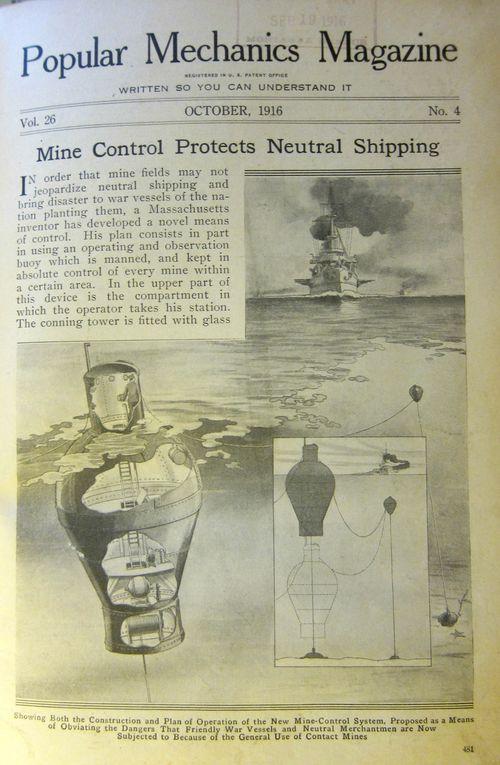 Popular MEchanics--buoy mine