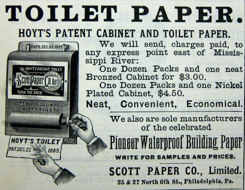 Scientific American ads old school toilet paper