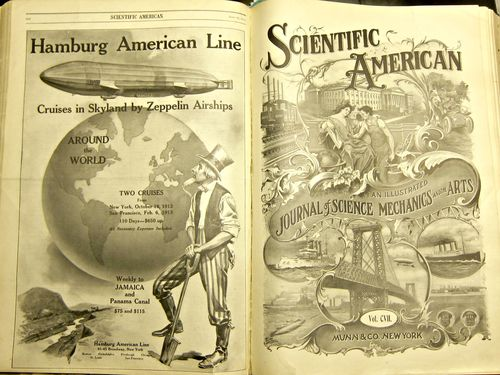Scientific American Zeppelin Uncle Sam