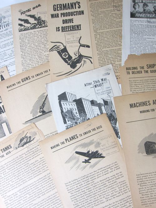 War Dept Production Board leaflet