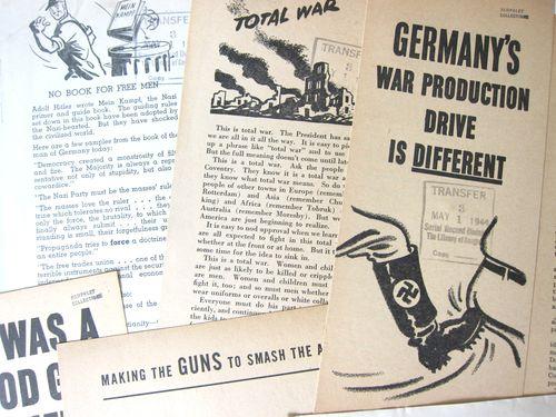 War Dept Production Board leaflet detail