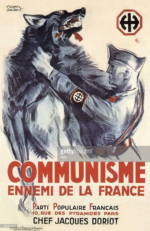 French Fascist poster