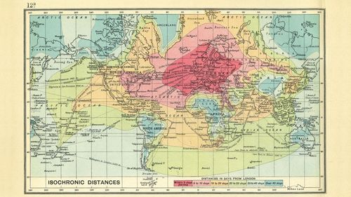 Maps isochronic 1914