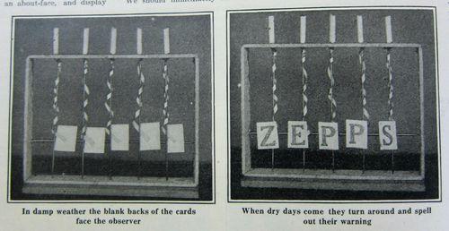 WWI Project zepp barometer 1917
