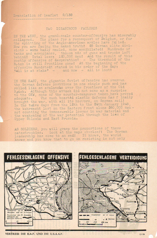 Leaflet two disasterous failures468