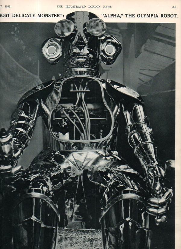 jf ptak science books a most delicate monster the alpha robot of 1932. Black Bedroom Furniture Sets. Home Design Ideas
