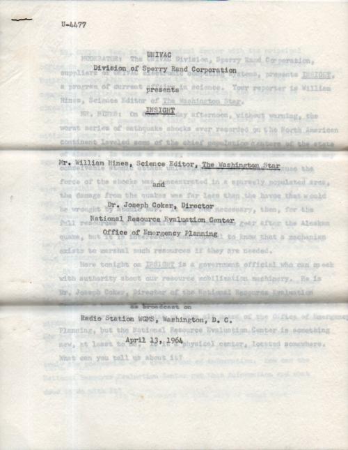 UNIVAC Coker544