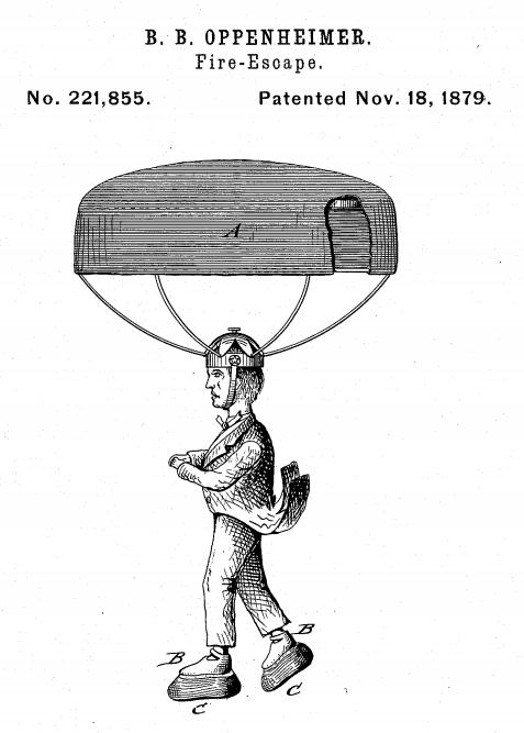 Patent parachute fire escpae _2_