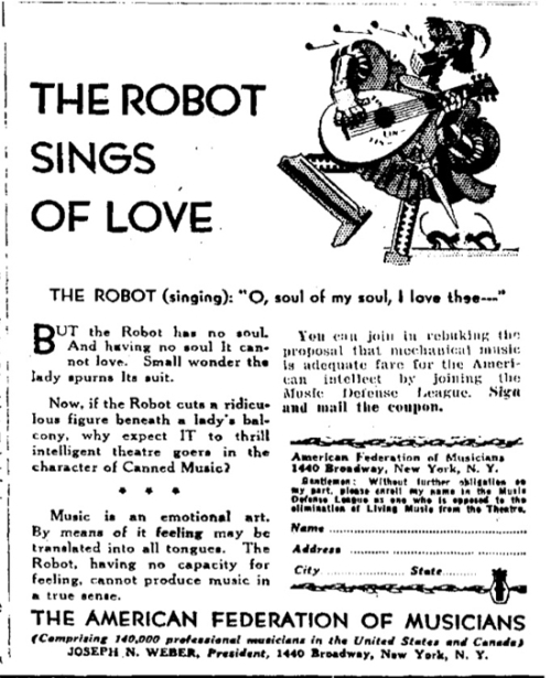 Robot song of love