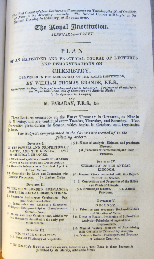Faraday lectures _a_