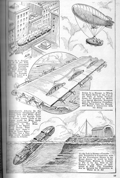 Pop mech giant dirigible 1921