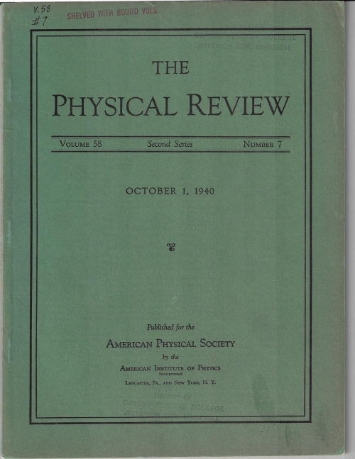 PR 1940 OCt Bohr