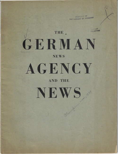German news agency and the news
