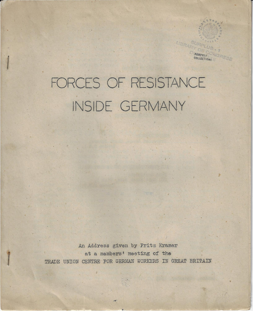 Forces of resistance inside germany