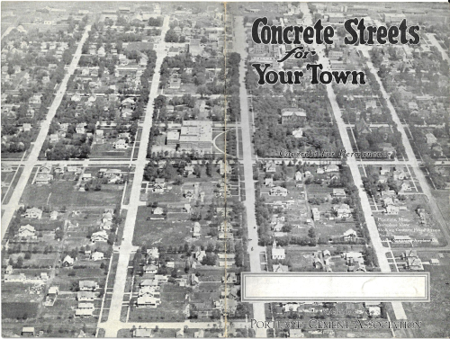 Concrete streets cover