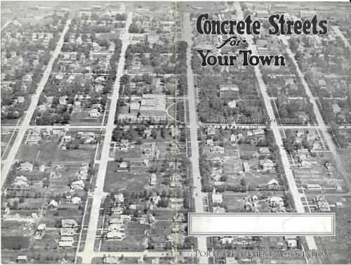 Concrete streets cover