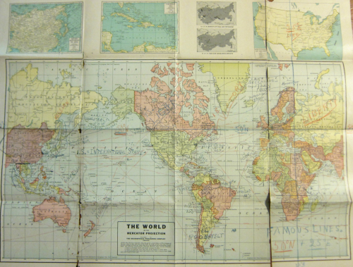 Maps Outsider 1945 world map