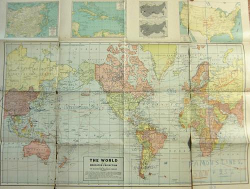 Maps Outsider 1945 world map