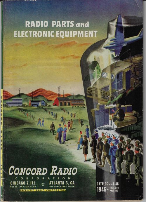 Book covers electronics reutn from the war 1946