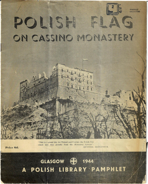 Polish flag Monte Cassino