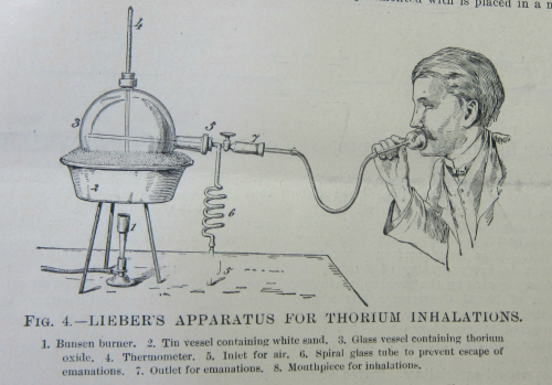 Thorium inhaler