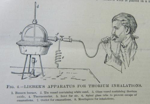 Thorium inhaler