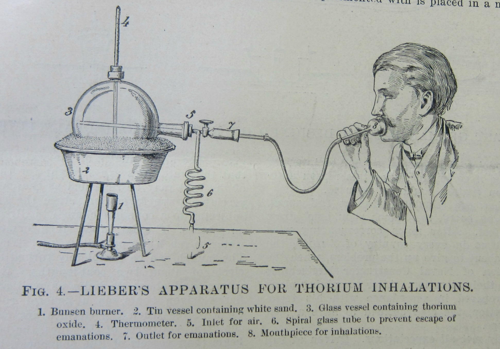 JF Ptak Science Books: An Apparatus for Inhaling Thorium (1904)