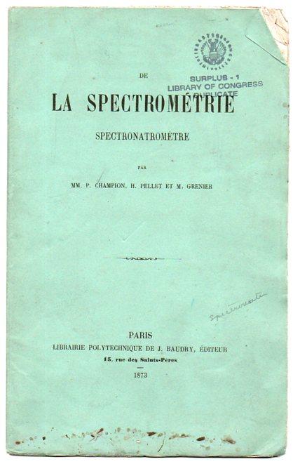 Books spectrometrie