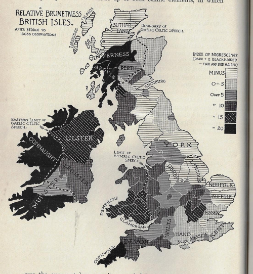 Maps of Brunetness of British Isles